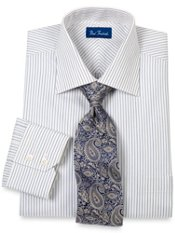 European Style Satin Stripe Dress Shirt