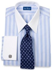 White Collar & French Cuff Dress Shirt