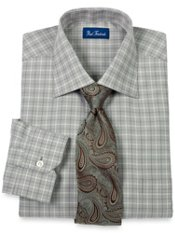 European Style Italian Cotton Textured Dress Shirt