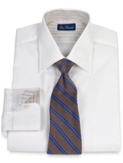 2-Ply Cotton Pinpoint Oxford Spread Collar Dress Shirt