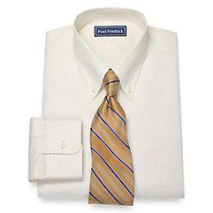 1930s Style Mens Shirts 100 Cotton Dot Print Pattern Button Down Collar Dress Shirt $30.00 AT vintagedancer.com