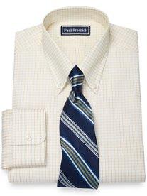 2-Ply Satin Grid Button Down Collar Dress Shirt