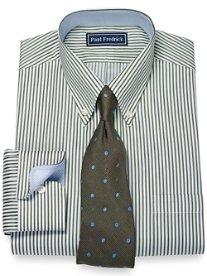 2-Ply Cotton Bengal Stripe Button Down Collar Dress Shirt