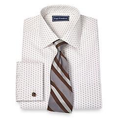 1960s Mens Shirts- Dress, Mod, T-Shirt, Turtleneck Italian Cotton Paisley Print Pattern Spread Collar French Cuff Dress Shirt $50.00 AT vintagedancer.com