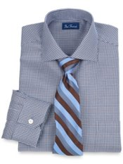 2-Ply Cotton Houndstooth Cutaway Collar Dress Shirt