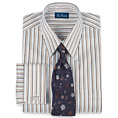 Mens Satin Stripe Twenties French Cuff Dress Shirt