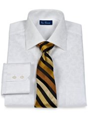 2-Ply Cotton Paisley Spread Collar Dress Shirt