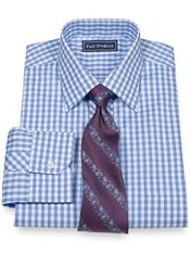 2-Ply Cotton Pinpoint Spread Collar Dress Shirt