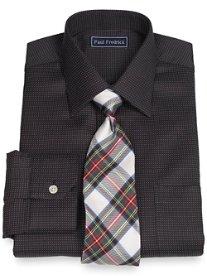 2-Ply Cotton Dot Pattern Spread Collar Dress Shirt