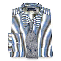 1930s Style Mens Shirts 100 Cotton Tread Stripe Straight Collar Dress Shirt $30.00 AT vintagedancer.com