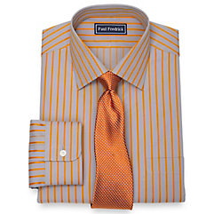 1930sStyleMen8217sClothing 2-Ply Cotton Satin Stripe Spread Collar Dress Shirt $80.00 AT vintagedancer.com