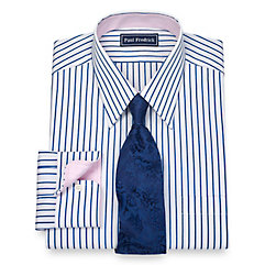1920s Style Mens Shirts Slim Fit 100 Cotton Shadow Stripe Straight Collar Dress Shirt $80.00 AT vintagedancer.com