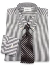 Non-Iron Cotton Pinpoint Bengal Stripe Dress Shirt