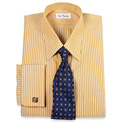 Gold Stripes Mens Dress Shirts