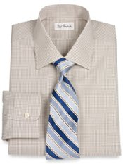 Non-Iron 2-ply Cotton Gingham Windsor Collar Dress Shirt