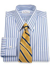Non-Iron 2-ply Cotton Shadow Stripe Dress Shirt