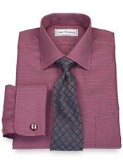T/f Non Iron Dobby Chevron Windsor Collar, French Cuffs