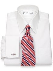 Non-Iron Supima® Cotton Straight Collar French Cuff Trim Fit Dress Shirt