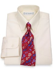 Non-Iron 2-Ply 100% Supima® Cotton Solid Button Down Collar Dress Shirt