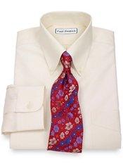 Non-Iron 100% Supima® Cotton Button Down Collar Trim Fit Dress Shirt