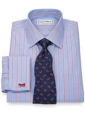 Non-Iron 100% Supima® Spread Collar French Cuff Trim Fit Dress Shirt