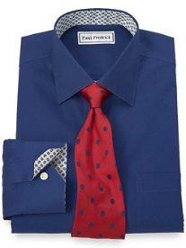 Non-Iron 2-Ply 100% Cotton Solid Spread Collar Dress Shirt