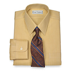 1930s Style Mens Shirts Non-Iron 2-Ply 100 Cotton Herringbone Straight Collar Dress Shirt $35.00 AT vintagedancer.com