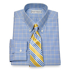 1930s Style Mens Shirts Non-Iron Glen Plaid Dress Shirt $90.00 AT vintagedancer.com