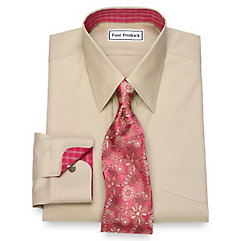 1940s Style Mens Shirts Non-Iron Cotton Solid Dress Shirt $90.00 AT vintagedancer.com