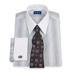 Straight White Collar French Cuff Dress Shirt