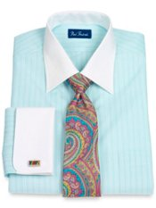End-on-End Spread Collar French Cuff Dress Shirt