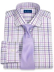 2-Ply Cotton Grid Cutaway Collar Dress Shirt