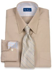 Pinpoint Oxford Straight Collar Trim Fit Dress Shirt