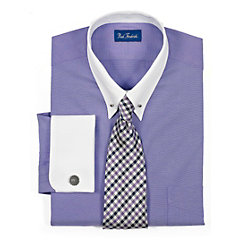 Paul fredick men clothes for Mens eyelet collar dress shirts