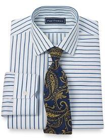 2-Ply Cotton Stripe Jermyn St. Collar Dress Shirt