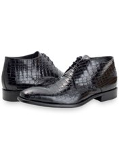 Italian Crocodile Embossed Leather Boot