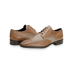 Italian Wool & Leather Wingtip Oxford Shoe