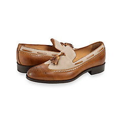 Barrett Wingtip Tassel Loafer $160.00 AT vintagedancer.com