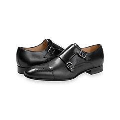 1960s Mens Shoes- Retro, Mod, Vintage Inspired Addison Cap Toe Double Monk Strap $200.00 AT vintagedancer.com