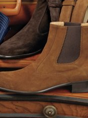 Italian Suede Gored Boot