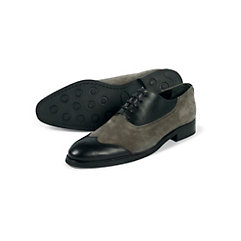 saddle shoes, black and white shoes, two tone shoes Italian Leather/Suede Two Tone Wingtip Oxford