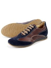 Italian Leather/Suede Two Tone Sport Shoe