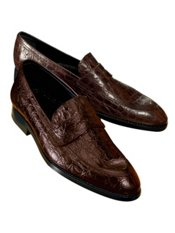 Faux Alligator Embossed Loafer