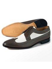 Italian Leather Spectator Shoe