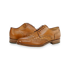 Italian Woven Leather Wingtip Oxford