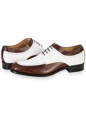 Italian Two Tone Leather Oxford