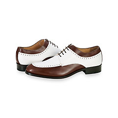 Italian Two Tone Leather Oxford $180.00 AT vintagedancer.com