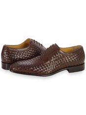 Italian Woven Leather Oxford