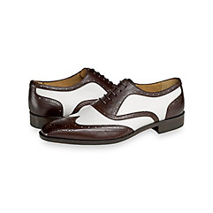 1950s Style Mens Shoes Stuart Wingtip Oxford $130.00 AT vintagedancer.com