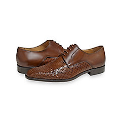 Shawn Woven Leather Derby $260.00 AT vintagedancer.com